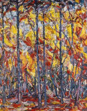 Christian Rohlfs: Buchen im Herbst (Weißbuchen im Herbst)