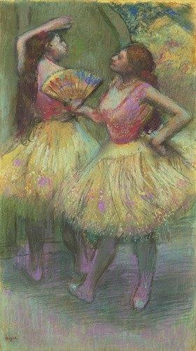 Edgar Degas: Zwei Tänzerinnen bevor sie auf die Bühne gehen