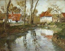 Frits Thaulow: Das Flüßchen Laita in Quimperle