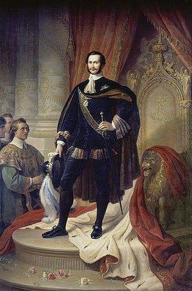 Wilhelm von Kaulbach: König Maximilian II. von Bayern als Hubertusritter. Nach