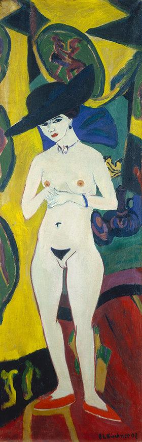 Ernst Ludwig Kirchner: Nackte Frau mit Hut