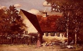 Paul W Keller-Reutlingen: Hinter'm Haus