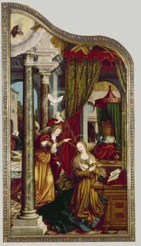 Martin Schaffner: Wettenhausener Altar. Li.Flügel innen: Verkündigung an Maria