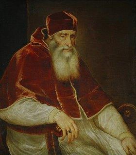 Tizian (Tiziano Vecellio): Papst Paul III.Farnese (1468-1549)