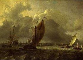 Ludolf Backhuyzen: Segelschiffe auf dem Fluss Ij bei Amsterdam