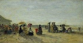 Eugène Boudin: Strandszene in Trouville