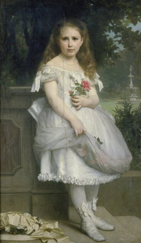 William Adolphe Bouguereau: Anna Mounteney Jephson im Ballkleidchen