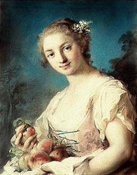 Rosalba Carriera: Junge Dame mit Pfirsichen