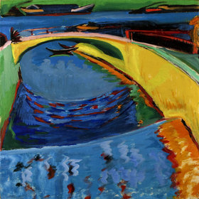 Ernst Ludwig Kirchner: Brücke an der Prießnitzmündung