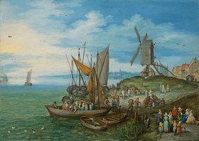 Jan Brueghel d.Ä.: Die Mühle am Landungssteg