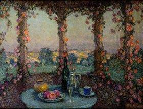 Henri Le Sidaner: Das Tischlein auf der Terrasse