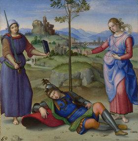 Raffael (Raffaello Sanzio): Allegorie oder Vision eines Ritters