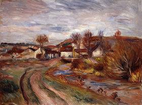Auguste Renoir: Landschaft in der Normandie