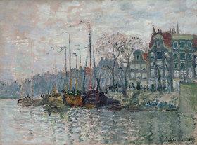 Claude Monet: Blick auf die Prins Hendrikkade und die Kromme Waal in Amsterdam