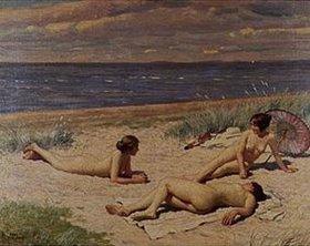 Paul Fischer: Strandszene mit nackten Frauen