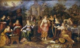 Frans Francken II.: Das Gleichnis von den klugen und den törichten Jungfrauen