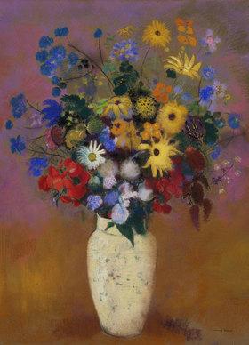 Odilon Redon: Blumen in einer Vase