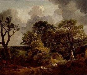 Thomas Gainsborough: Waldlandschaft mit Weg und Schafen