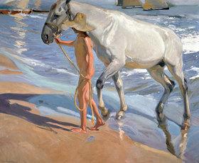 Joaquin Sorolla: Das Bad des Pferdes