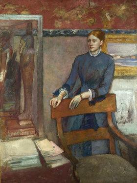 Edgar Degas: Hélène Rouart im Arbeitszimmer ihres Vaters