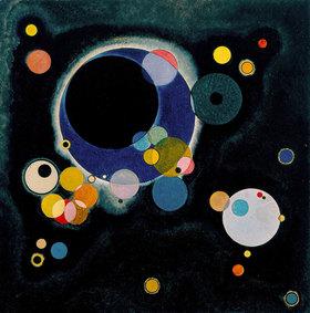 Wassily Kandinsky: Skizze für 'Einige Kreise'