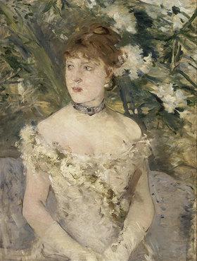 Berthe Morisot: Junge Frau im Ballkleid