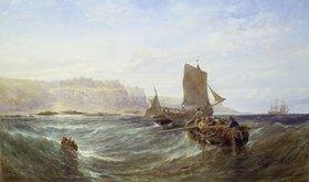 Edwin Hayes: Fischerboote vor einer Steilküste