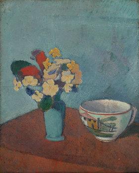 Emile Bernard: Vase mit Blumen und Tasse