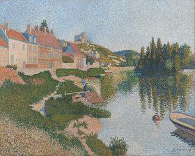 Paul Signac: Les Andelys, das Ufer (Les Andelys, la berge)