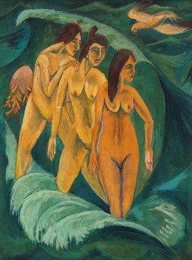 Ernst Ludwig Kirchner: Die drei Badenden