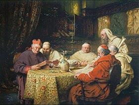 Richard Linderum: Kardinal und Mönche beim Studi