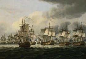 Thomas Luny: Die Schlacht von Kap St.Vincent (1797) oder bei der Doggerbank (1781)