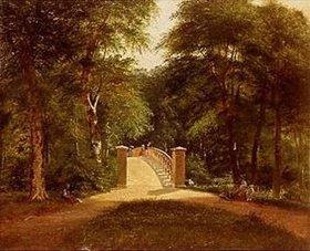Carl Ludwig Ferd Messmann: Park mit Brücke in Kopenhagen