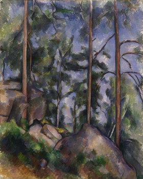 Paul Cézanne: Kiefern und Felsen