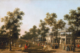 Canaletto (Giov.Antonio Canal): Allee (Grand Walk), Vauxhall Gardens