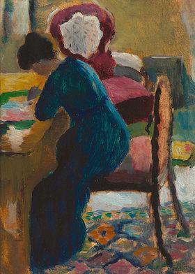 August Macke: Elisabeth am Schreibtisch