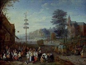 Josef van Bredael: Maitanz im Dorf