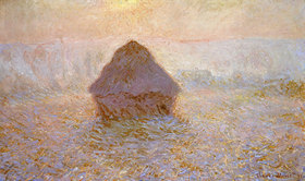 Claude Monet: Heuhaufen, Sonne bei Nebel