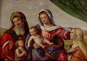 Pietro degli Ingannati: Madonna mit dem Kind, dem Johannesknaben und den Hll.Katharina und Zacharias