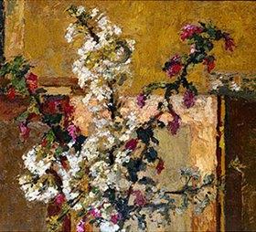 Ker Xavier Roussel: Obstblütenzweige in einem Interieur