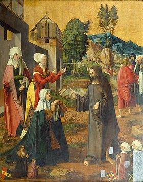 Hans Schäufelein: Abschied Jesu von Maria