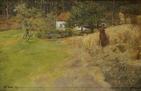 Frits Thaulow: Bauersfrau bei der Erntearbeit