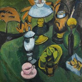 Ernst Ludwig Kirchner: Stilleben mit Lampe