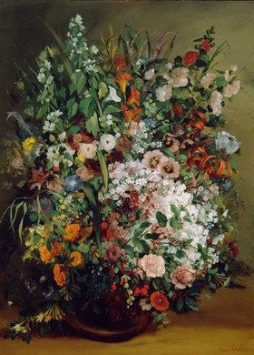 Gustave Courbet: Blumenstrauß in einer Vase