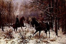 Jan van Chelminski: Duell an einem Wintermorgen