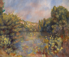 Auguste Renoir: Landschaft mit einem See