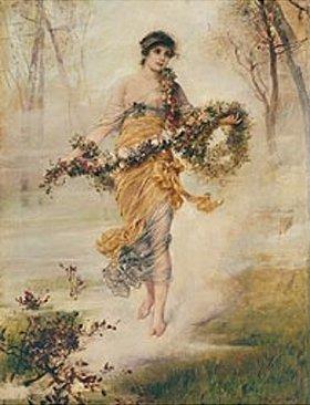 Friedrich August von Kaulbach: Flora