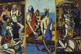 Max Beckmann: Triptychon Abfahrt. 1932/1933. Totale