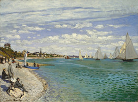 Claude Monet: Regatta bei Sainte-Adresse