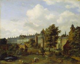 Jan van der Heyden: Das alte Palais in Brüssel mit dem Tiergarten